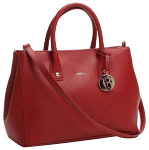 Furla Satchel in Cabernet
