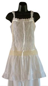 Luv2Luv Bohemian Cotton Embellished Embroidered Lace Top White