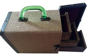Other Vintage Suitcase - Rustic Jewerly Box with Wooden Drawers