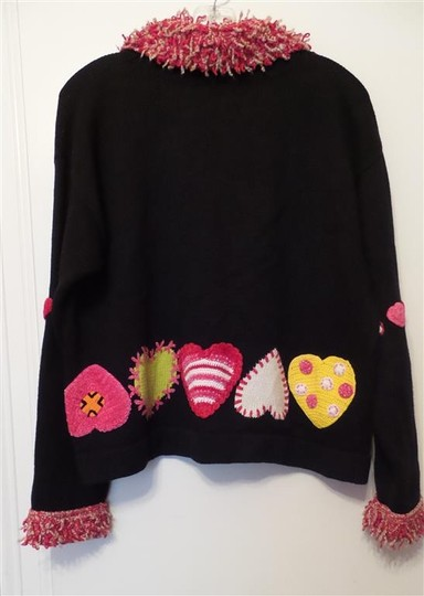 60%OFF Berek 2 Hearts Xoxo 1/2 Zip Plush Collar & Cuffs Size L Exc Vintage Cond Sweater - 67% Off Retail