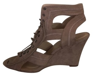 JustFab Taupe Wedges