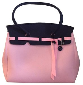 SKIMP Tote in Navy and Powder Pink