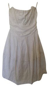 Speechless short dress White Eyelet Strapless Bow on Tradesy