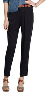 Madewell Casual Structured Silk Trouser Pants Black