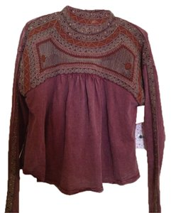 Free People Top Spiced Plum