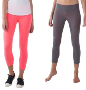 Lululemon New With Tags Lululemon Wunder Under Crop Reversible Size 10 Grapefruit And Slate
