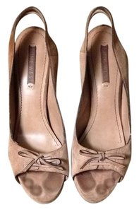 Nine West Beige Wedges