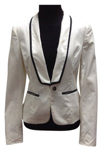 Rag & Bone Winter White Black Stripe Blazer