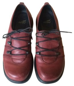 Dansko Leather Leather Red Athletic