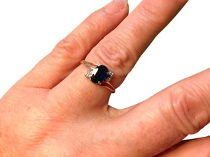Classic 14K Yellow Gold w/Blue Sapphire Solitaire