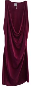 bobi short dress Maroon Holiday Evening Night Out Date Night Scoop Neck Sexy Fitted Stretchy Winter Classic on Tradesy
