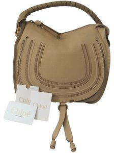 Chloé Marcie Marcie Medium Beige Leather Leather Handbag Hobo Bag