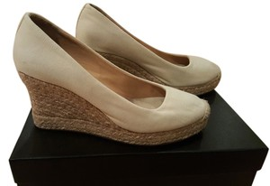J.Crew Espadrille Wedge Peep White Wedges