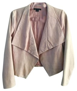 Theory Fitted Soft Chic Winter Holiday Evening Beige Leather Jacket