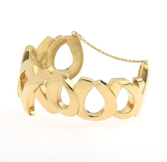 Tiffany & Co. Tiffany & Co 18 Karat Yellow Gold Paloma Picasso XO Cuff Bracelet