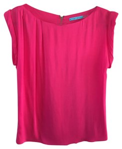 Alice + Olivia Silk Tunic Holiday Party Classic Top Magenta