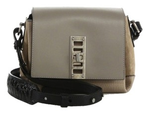 Proenza Schouler Crocodile Suede Leather Patent Leather Pebbled Leather Cross Body Bag