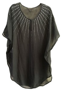 BCBGMAXAZRIA short dress Gold Embellished Cover-up on Tradesy
