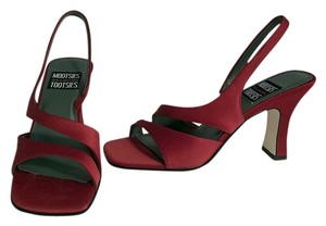 Mootsies Tootsies Leather Satin Red Sandals