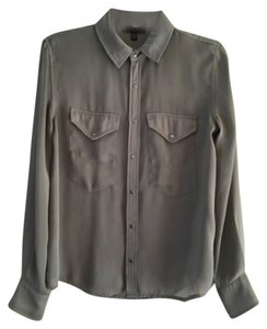 JOE'S Winter Comfortable Holiday Button Down Shirt Grey / faded olive