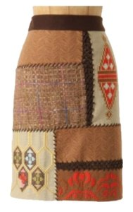 Anthropologie Skirt Yellow gold, orange, brown