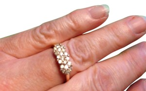Diamond 'Posies' Ring 10K Yellow Gold