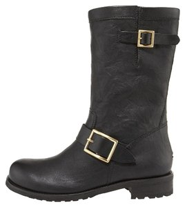 Jimmy Choo Motorcycleboot Style Leather Essential Black Boots