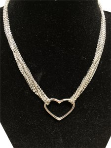 Sterling Silver Heart on Multi Strands Necklace (15
