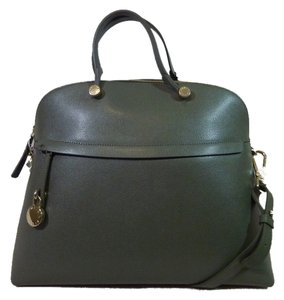 Furla Satchel in Green/Black Camouflage