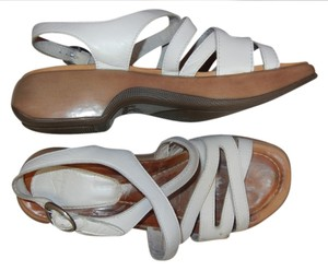 Dansko Comfortable Walking White Sandals