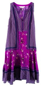 Rebecca Taylor short dress Purple Bohemian Festival Floral Party Date Night on Tradesy