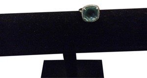 Swarovski Stone Blue topaz size 8 Swarovski ring set in sterling silver