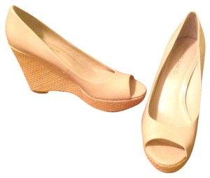 Franco Sarto Peek Toe Wedges