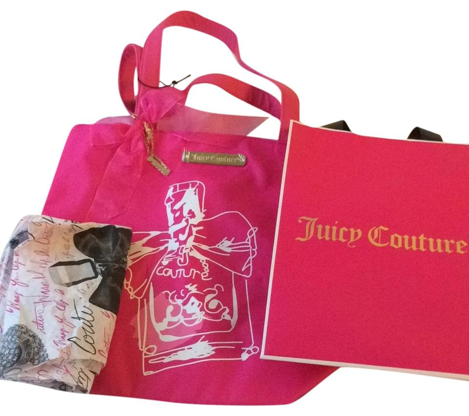 juicy couture hot pink tote bag on sale 50 off totes on sale. Black Bedroom Furniture Sets. Home Design Ideas