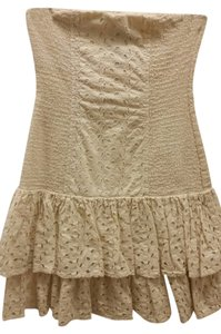Victoria's Secret short dress Cream Eyelet Strapless Mini on Tradesy