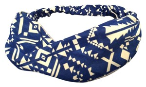 Tribal Print Blue Headband