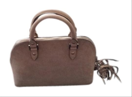 Blu Style Leather Tote in Beige Suede