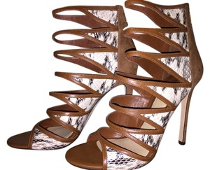 B Brian Atwood Brown multi Sandals