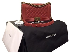 Chanel Chane Le Boy Medium Caviar Shoulder Bag