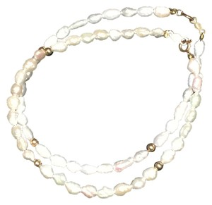 Fresh Water Pearl and 14k Gold Balls Bracelets (Set of 2)