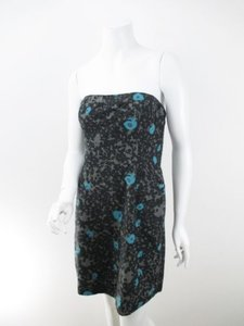Kimchi Blue short dress Black, Gray, Blue Kimchi Urban Outfitters Floral Strapless on Tradesy