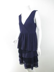 Ric Rac Anthropologie Tiered Ruffle Waffle Texture Stretch Dress