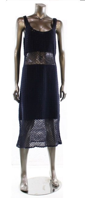 Preload https://item2.tradesy.com/images/michael-michael-kors-navy-crochet-tank-with-peek-a-boo-waist-mid-length-casual-maxi-dress-size-8-m-1009801-0-0.jpg?width=400&height=650