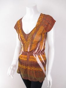 Alchemic Urban Outfitters Tribal Sublimation Peplum Shirt Tunic