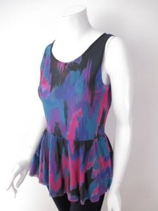 Sweet Pea by Stacy Frati Anthropologie Top Pink, Purple, Blue, Black