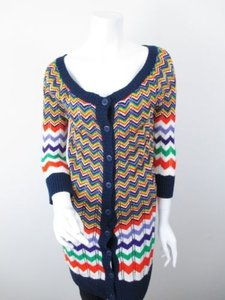 Flying Tomato The Buckle Chevron Duster Button Cardigan Sweater
