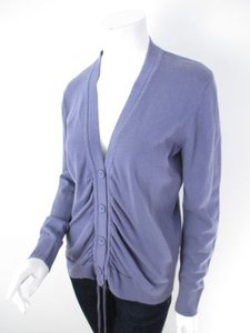 Anthropologie Tabitha Ruched Button Front Cardigan Sweater