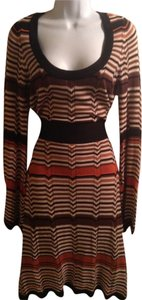 multi colored striped browns Maxi Dress by INC International Concepts