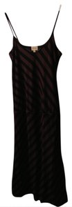 Brown/Black Striped Maxi Dress by Ella Moss Sex And The City Carrie Bradshaw Drawstring Stripes