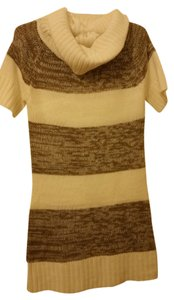 Ashley By 26 International short dress white and light brown on Tradesy